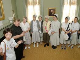 Pilgrims unlock treasure at Seton House