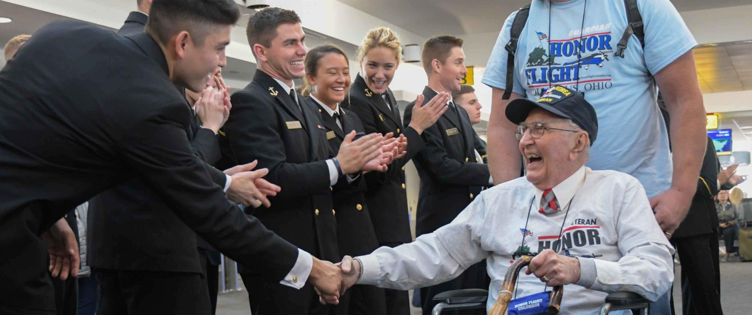 World War II, Korea and Vietnam War veterans get hero's welcome at Baltimore airport