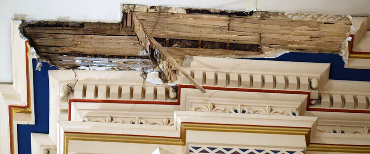 Frederick church closes temporarily after falling plaster causes damage
