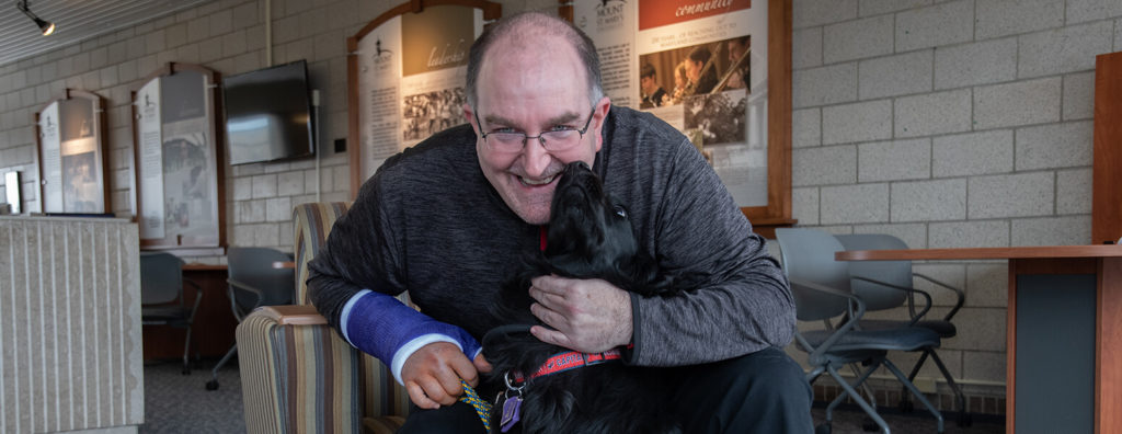 Mount St. Mary's welcomes professor's service dog