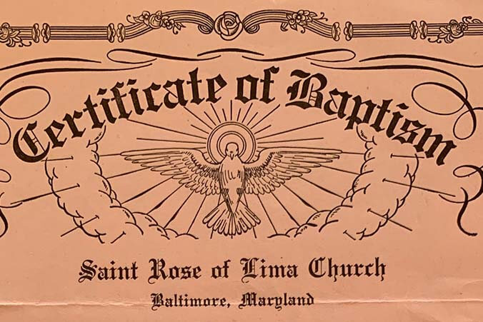 Do you know the date of your baptism?