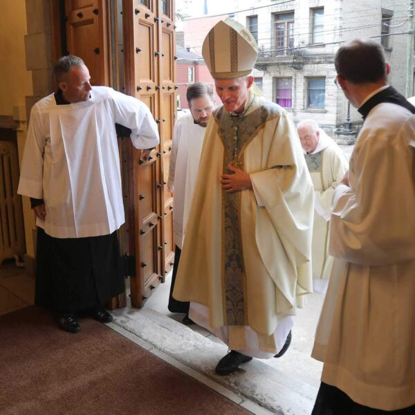 Installation for Bishop Brennan focuses on light and service