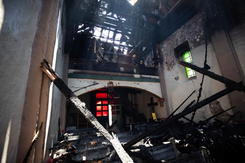 Fire ravages historic California mission, but community vows to rebuild