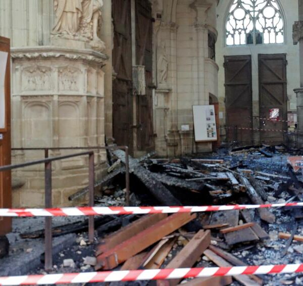 French police arrest cathedral volunteer who confesses to Nantes fire