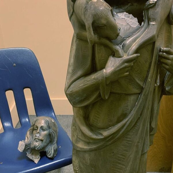Christ statue vandalized at Florida church among latest attacks on statues