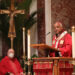 Washington Archbishop Wilton D. Gregory preaches his homily.