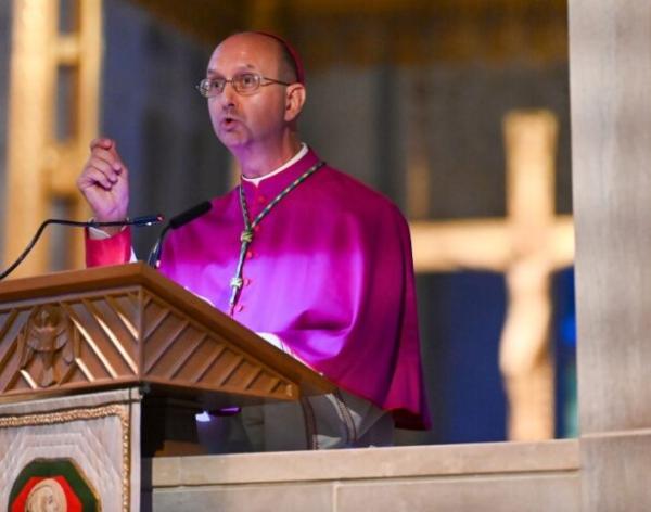 Emotional Bishop-designate Lewandowski considers selfishness versus sacrifice at vespers
