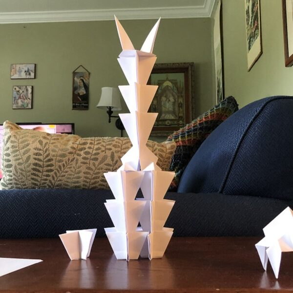 Origami creations, gearing up for virtual school, finches, and more (7 Quick Takes)
