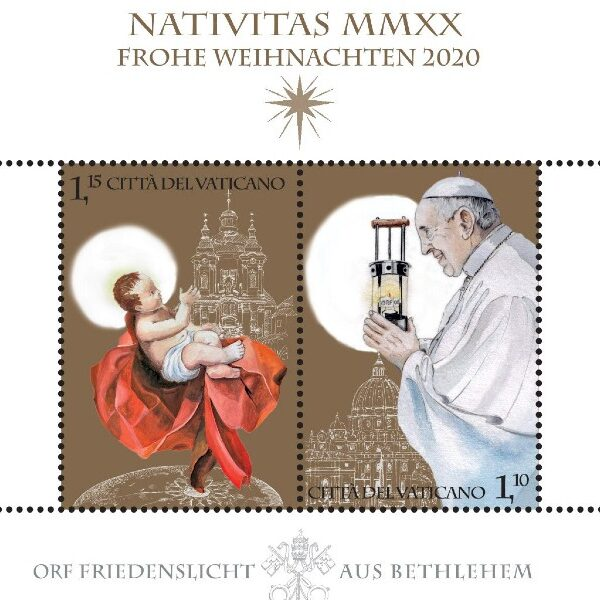 Vatican Christmas: Details of stamps, Nativity scene, tree released