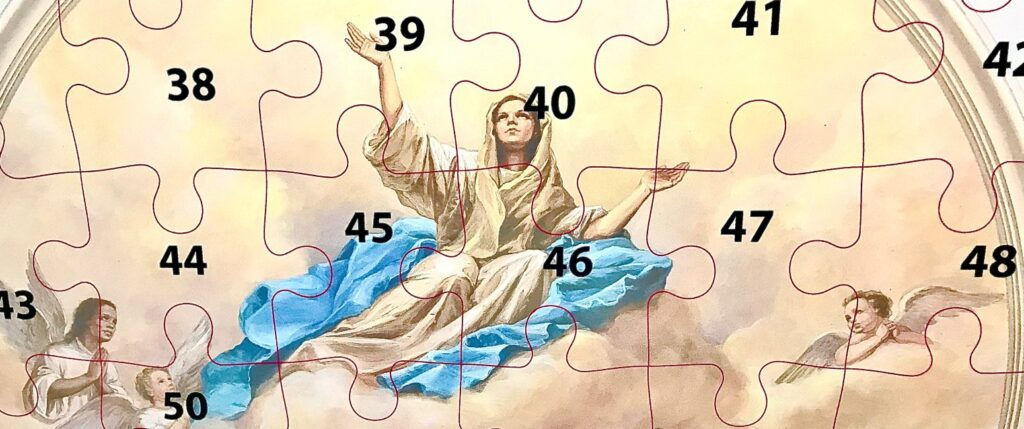 Radio fundraiser features giant puzzle of Baltimore basilica's Mary