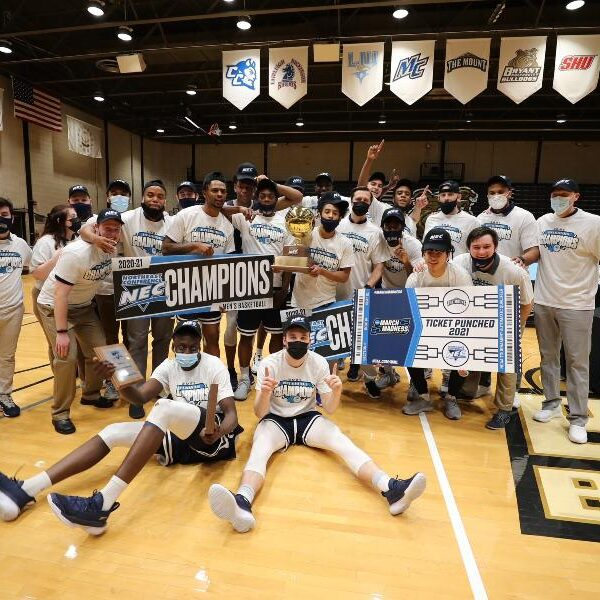 Mount St. Mary's University doubles its NCAA basketball fun with both teams dancing
