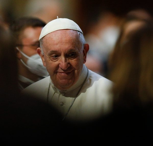 At rosary, pope prays resources move from military to pandemic prevention