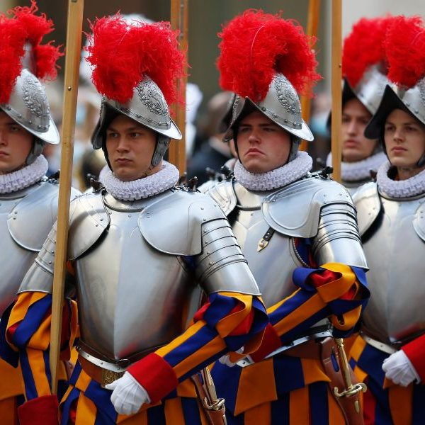 Pope tells new Swiss Guards they represent a church that welcomes