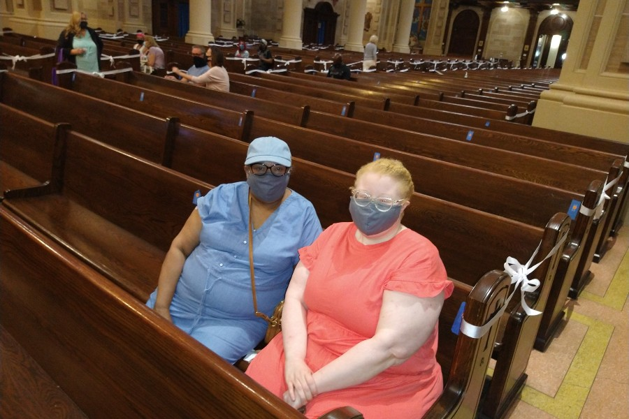 Baltimore Archdiocese's Irvington parish offers serene setting for COVID-19 vaccination clinic