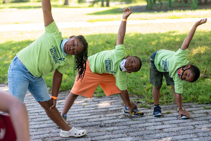 Camp St. Vincent's children return to fresh air, open spaces of Patterson Park