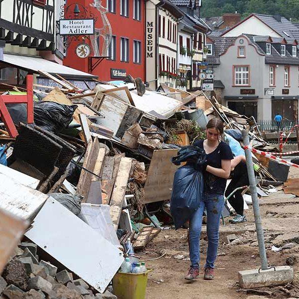German churches pray, provide aid as European flooding death toll climbs