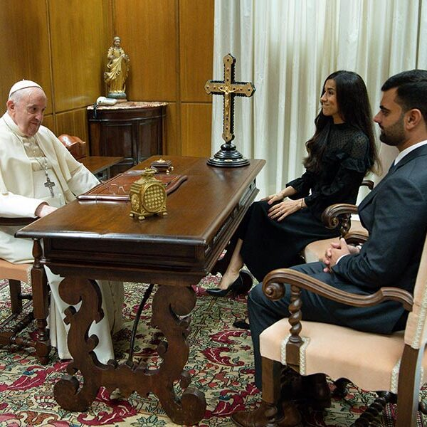 Pope meets with genocide survivor who inspired his Iraq trip