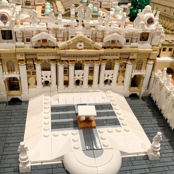 Architect turns 67,000 tiny LEGO pieces into Vatican City State replica