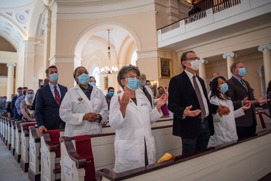 'We're all worn down': Catholic health care providers find spiritual strength at White Mass